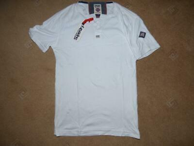 New Mens Superdry Heritage Sportswear plain white t-shirt top. Size Small