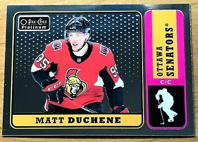 2018-19 O-Pee-Chee Platinum Retro Hockey card of Matt Duchene (R-28)