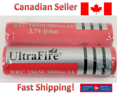 Ultrafire Flashlight 18650 3000 mAh 3.7V Li-Ion Rechargeable Battery - 2 PCS
