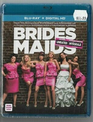 Sealed New - Blu-Ray + Digital HD - Bridesmaids Unrated - Also In French