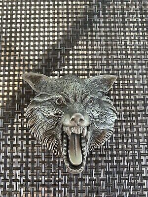 Vintage The Great American Buckle Co Belt Buckle 4277, Wolf Head