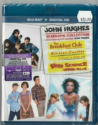 Sealed New Blu-Ray - Weird Science - Breakfast Club - 16 Candles - Also French