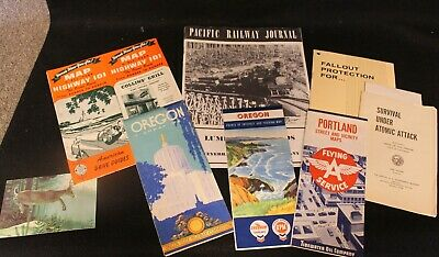Lot of Vintage Road Maps of Oregon & Misc Items