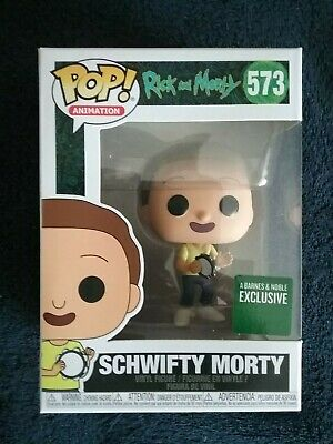 Funko Pop! Rick and Morty Barnes and Noble Exclusive SCHWIFTY MORTY #573, New