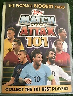 Match Attax 101 2019 Full Set Of All 174 Cards In Binder + Limited Mint