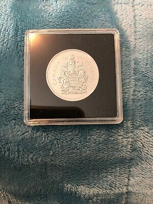 1999 Canada Fifty Cent Coin In Square Capsule