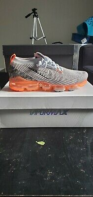 Nike Air VaporMax Flyknit 3 Grey/Pure Platinum/Hyper Crimson  DS