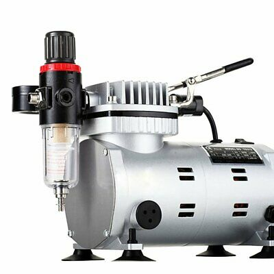 Air Compressor Professional Gravity Feed Dual-Action Airbrush Piston Power Bs