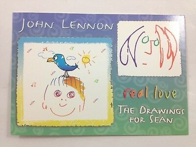 John Lennon Promo Postcard ~ Real Love ~ Drawings for Sean ~  Mint condition