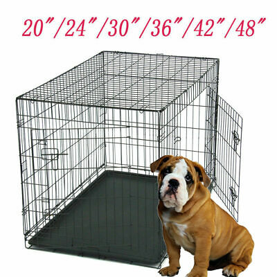 "Dog Cat Puppy Metal Training Cage Crate Carrier 20"" 24"" 30"" 36"" 42"" 48"" Easipet"