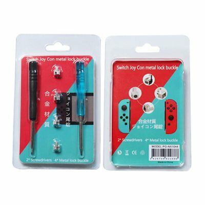 Repair Tool Parts Buckle Lock for NS Nintendo Switch with 2pcs Screwdrivers 6K