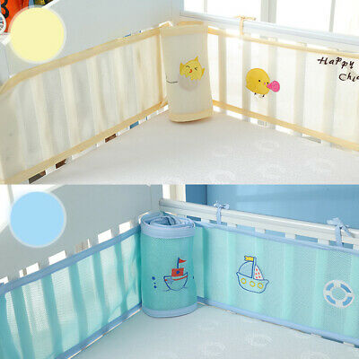 Breathable Collision-Proof Mesh Baby Bed Bumper Crib Nursery Safety Washable