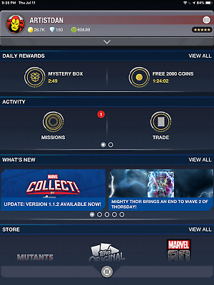Topps MARVEL Card Trader ANY 9 CARDS FROM MY ACCOUNT - Digital