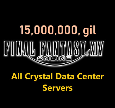 15 Million GIL (Final Fantasy XIV NA - ALL Crystal Servers) FF XIV PC PS4 15000k