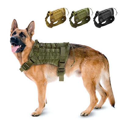 K9 Dog Training Harness and Leash Military Tactical Nylon Vest for Military Dogs