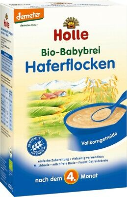 Holle ORGANIC Baby Whole Cereal flakes cereal porridge  250g-FREE SHIPPING