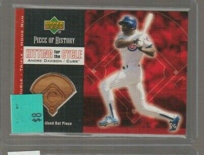 2002 Upper Deck Piece of the game Andre Dawson Hitting for the Cycle Bat Relic C