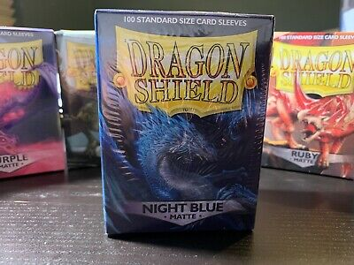 new AT-11242 Dragon Shield Night Blue Matte 60ct Standard Sized Sleeves
