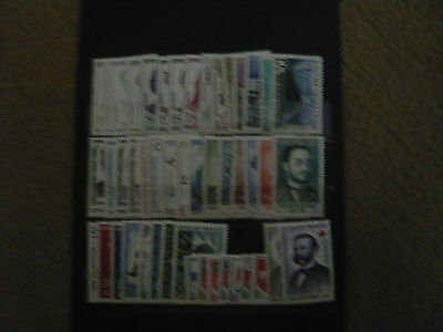 France Annee Complete 1958 47 Timbres Neufs Sans Charnieres