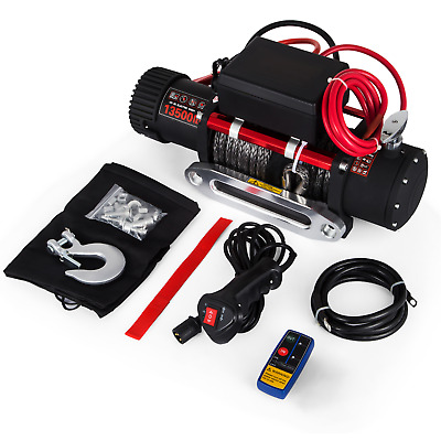 3000~13500LBS Electric Winch Steel/Synthetic Rope 12V ATV Boat 4x4 Recovery