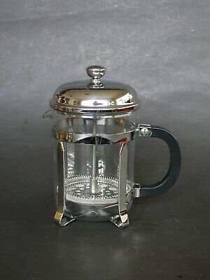 RARE MELIOR 4 CUP CHROME PLATED FRENCH PRESS PLUNGER COFFEE MAKER FRANCE 1980s