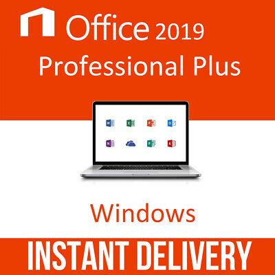 Microsoft Office Professional Plus 2019 License Activation Key 32/64Bit Instant