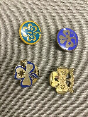 girl guide badges.....OLD. and  NEW