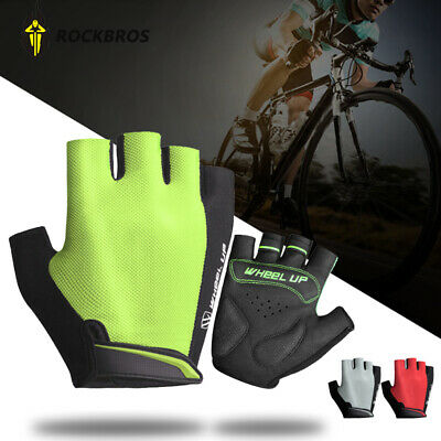 New Half Finger Bike Gloves MTB Shockproof Pad Bicycle Mitts Breathable Sports