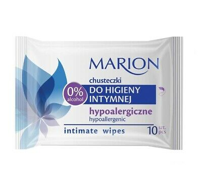 Marion Intimate Wipes Hypoallergenic No Dyes and Alcohol 3 packs x 10 pcs