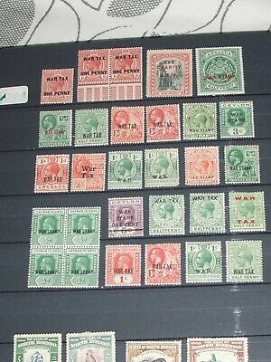 Geo V commonwealth war tax stamps  mixture all mint