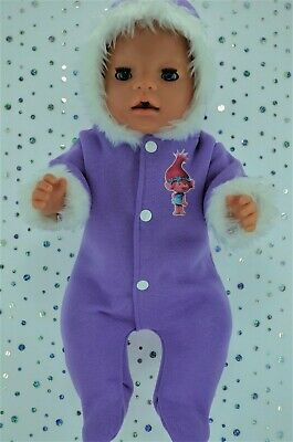 "Play n Wear Dolls Clothes To Fit 17"" Baby Born LILAC SNOWSUIT"