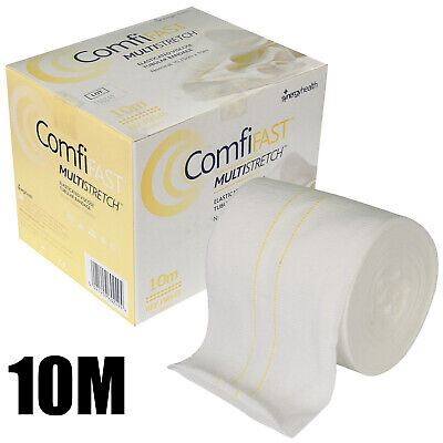 10m Comfifast Yellow Line Large Limb Elasticated Viscose Tubular Bandage 10.75cm