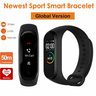Newest Band 4 Smart AMOLED Color Screen Waterproof Fitness Track Heart Rate