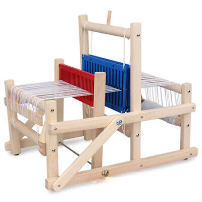 Wooden Traditional Weaving Loom Children Toy Craft Educational Gift Wooden  D3D6