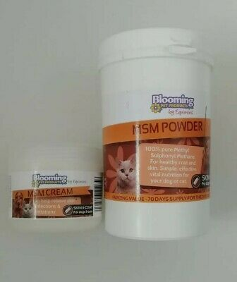 Bloomings MSM Cream & Powder for Dog Cat Skin Conditions & Issues