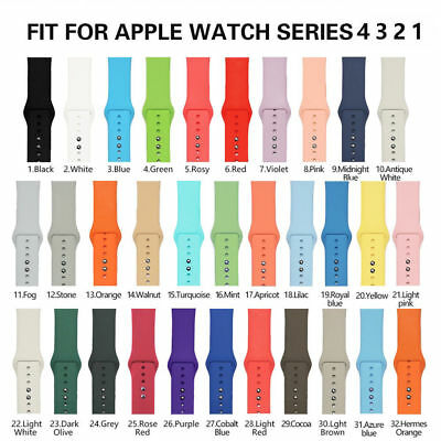 New Replacement Silicone Sport Band iWatch Strap For Apple Watch Series 4/3/2/1