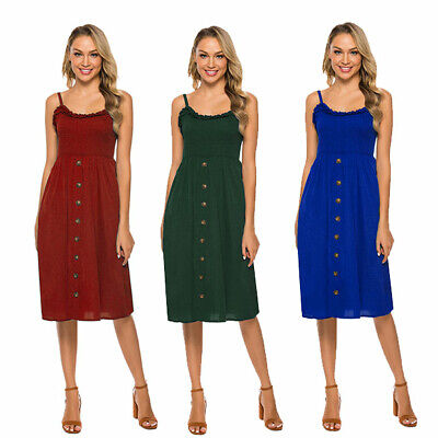 Beach Summer Holiday Women Short Dress Sun Dresses Pleated Casual Strappy Hot