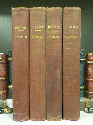 The Novels Of Benjamin Disraeli - 4 Books Collection! (ID:5407)