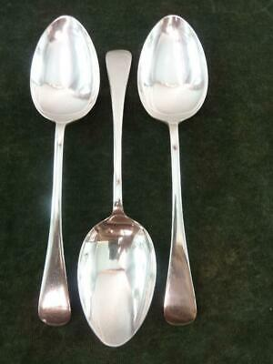 3 Vintage Serving spoons Old English pattern silver plated EPNS #2