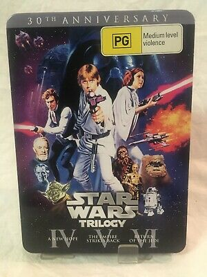 Star Wars Trilogy Original Theatrical Release 30th Anniversary Tin DVD Steelbook