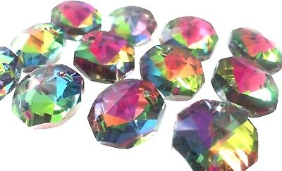50 Vitrail Rainbow Octagon 14mm Beads Chandelier Crystals 2 Hole