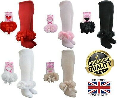 New Soft Touch Baby Frilly Spanish Romany Organza Lace Satin Bow Tutu Tights