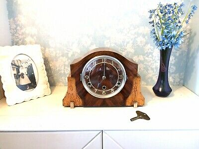 Stunning Pure art deco Dual Chime Westminster / St Micheal clock 1930's Restored