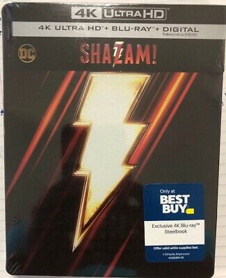 SHAZAM (4K Ultra HD + Blu-ray + NO DIGITAL*. Exclusive Steelbook Edition)