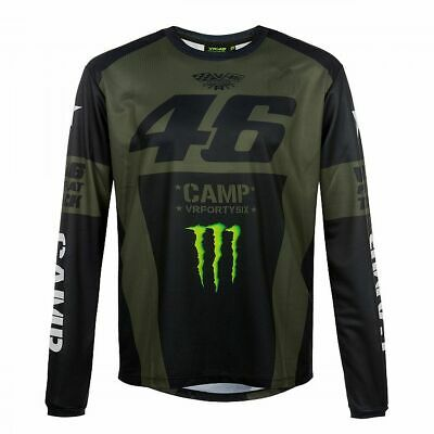 Valentino Rossi VR46 Moto GP Monster Camp Long Sleeve T-shirt Official 2019