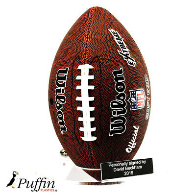 Acrylic American Football Wall Stand (With Free Inscription Plaque)