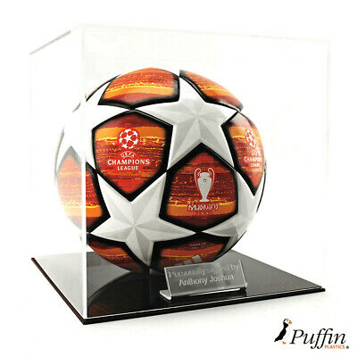 Perspex Football display case - Burgundy base