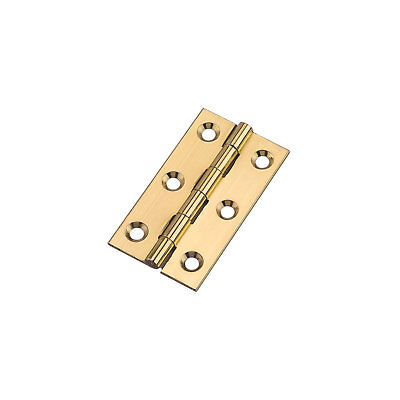 Pair of  BUTT HINGES - POLISHED BRASS-CABINETS-DOORS 64 x 35MM - HG6252 - NEW