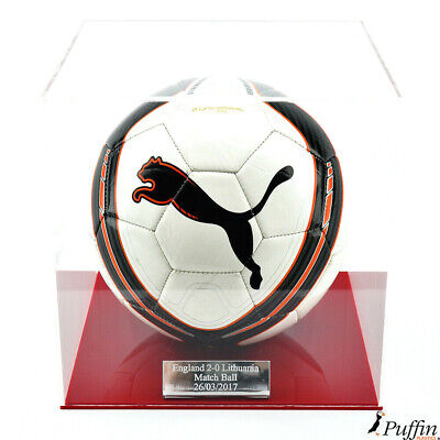 Acrylic Football display case - Red base