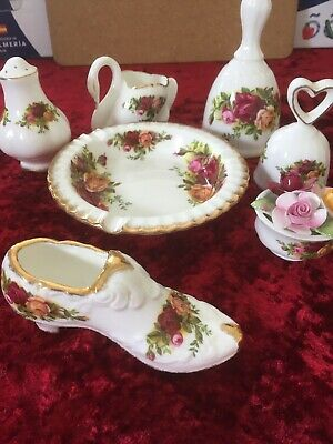 Selection Of Royal Albert China Old Country Roses